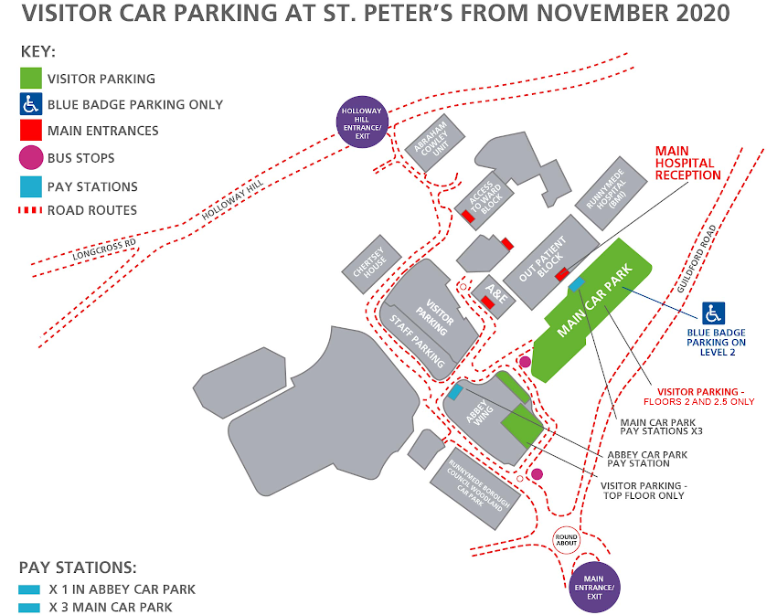 Parking Map at Saint Peters