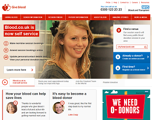 Link to the NHSBT: Give Blood website