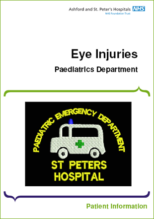 Click to download the Eye Injuries leaflet