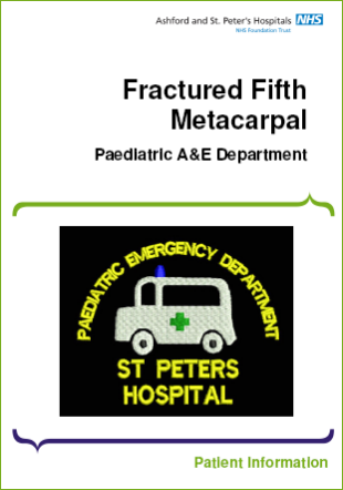 Click to download the Fractured Fifth Metacarpal leaflet