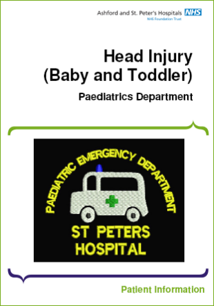 Click to download the Head Injury (baby and toddler) leaflet