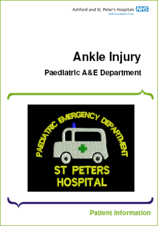 Click to download the Ankle injury leaflet
