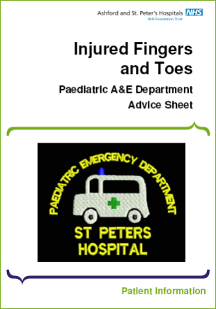 Click to download the Injured Fingers and Toes leaflet