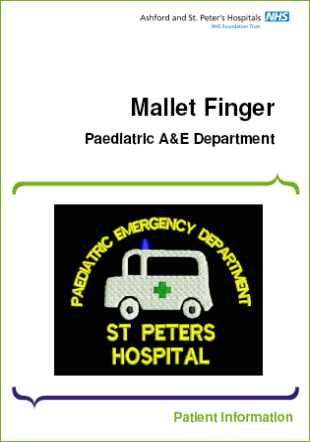 Click to download the Mallet Finger leaflet
