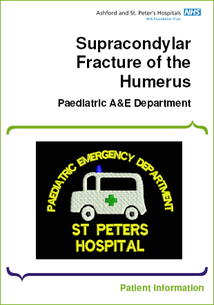 Click to download the Supracondylar Fracture of the Humerus leaflet