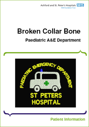Click to download the Broken collar bone leaflet