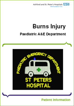 Click to download the Burns injury leaflet
