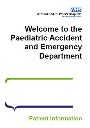 Click to download the Paediatric Accident and Emergency Department leaflet