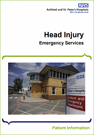 Click to download the Head injury leaflet