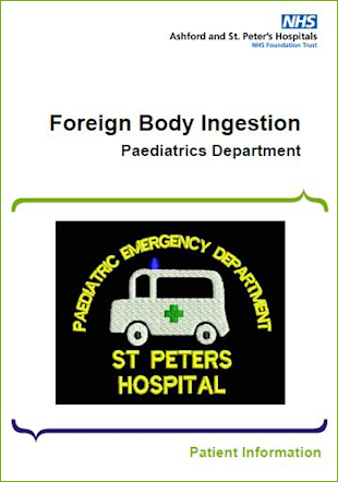 Click to download the Foreign Body Ingestion leaflet
