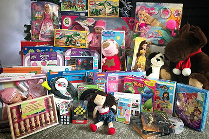 Angel Tree gifts for children visiting the Neonatal Intensive Care Unit