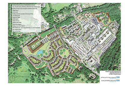 Have your say on redevelopment proposals for part of the Saint Peter's Healthcare Campus