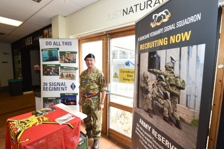 At the Community Day - Army recruitment display